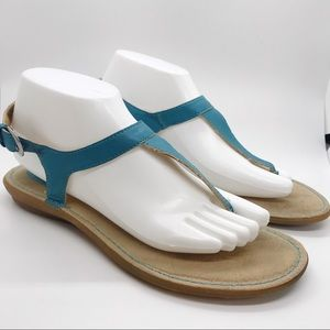 Bolo by Born Turquoise Blue T-Strap Sandals